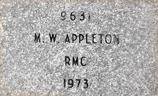 RMC | Commemorative Stone Example